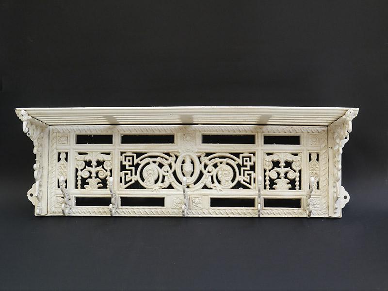 garderobe wandgarderobe garderobenhaken wei aus gu eisen 22x74x16 cm 5667 m bel garderoben. Black Bedroom Furniture Sets. Home Design Ideas