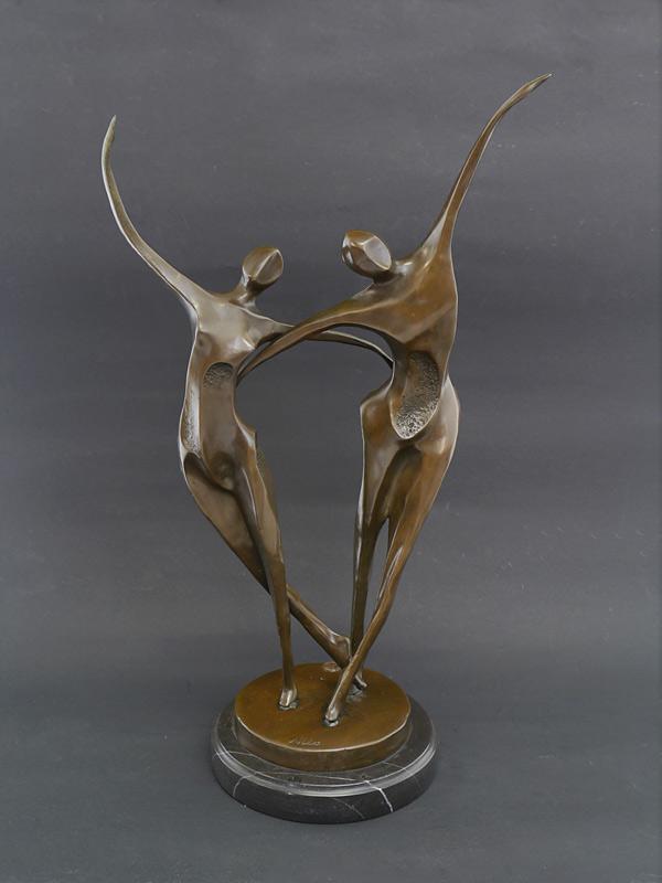 Tanzendes Paar aus Bronze