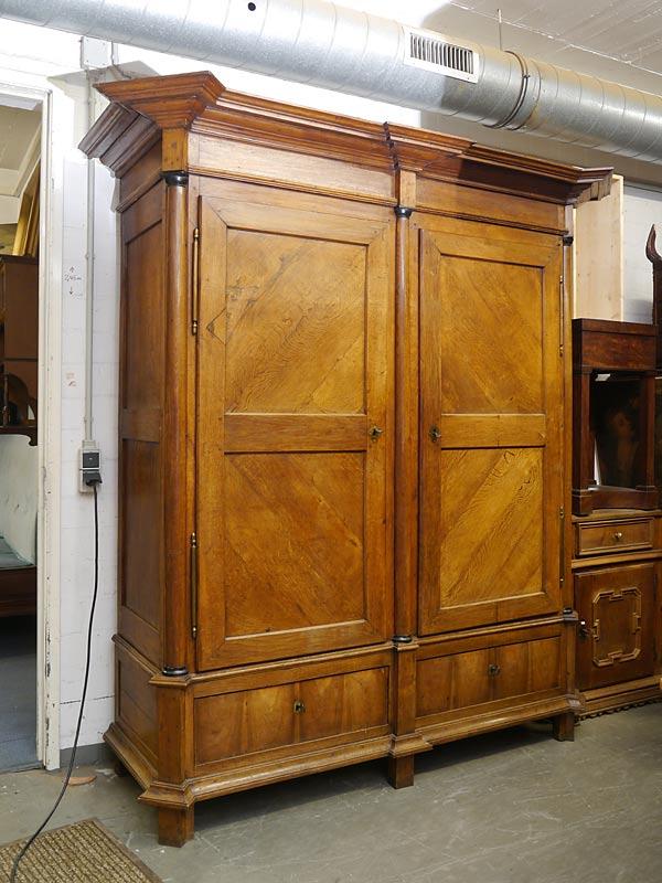 schrank kleiderschrank dielenschrank empire biedermeier. Black Bedroom Furniture Sets. Home Design Ideas