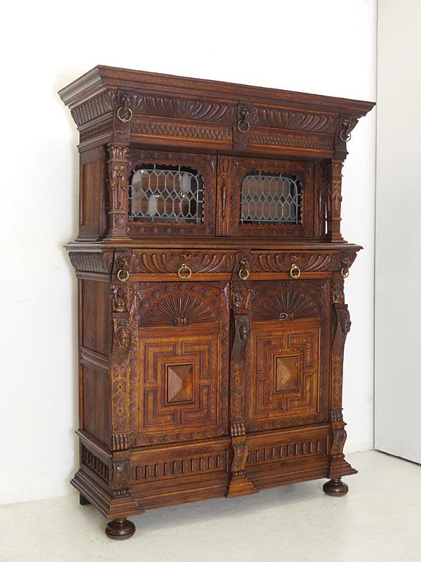kredenz buffet schrank zierschrank gr nderzeit um 1880 aus massiver eiche 5786 m bel schr nke. Black Bedroom Furniture Sets. Home Design Ideas