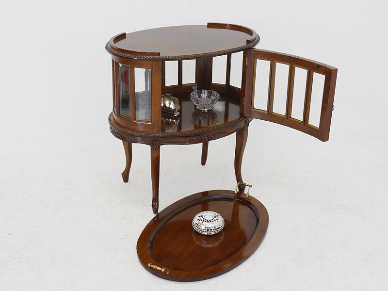 teeschrank barschrank beistelltisch antik stil nussbaum. Black Bedroom Furniture Sets. Home Design Ideas