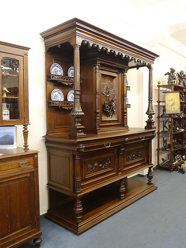 buffetschrank buffet aufsatzschrank gr nderzeit um 1880. Black Bedroom Furniture Sets. Home Design Ideas