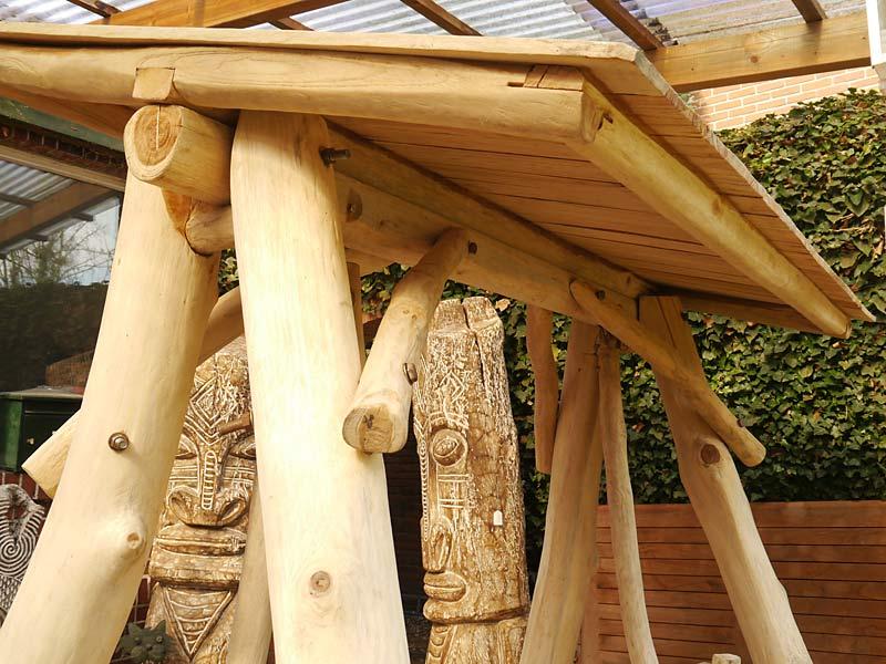 Detailansicht von dem Holzdach