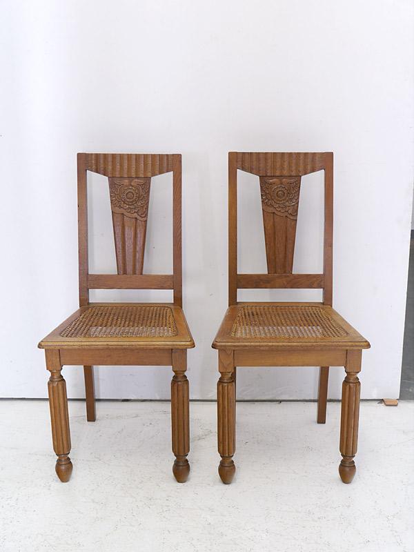 2 antike Stühle aus Eiche