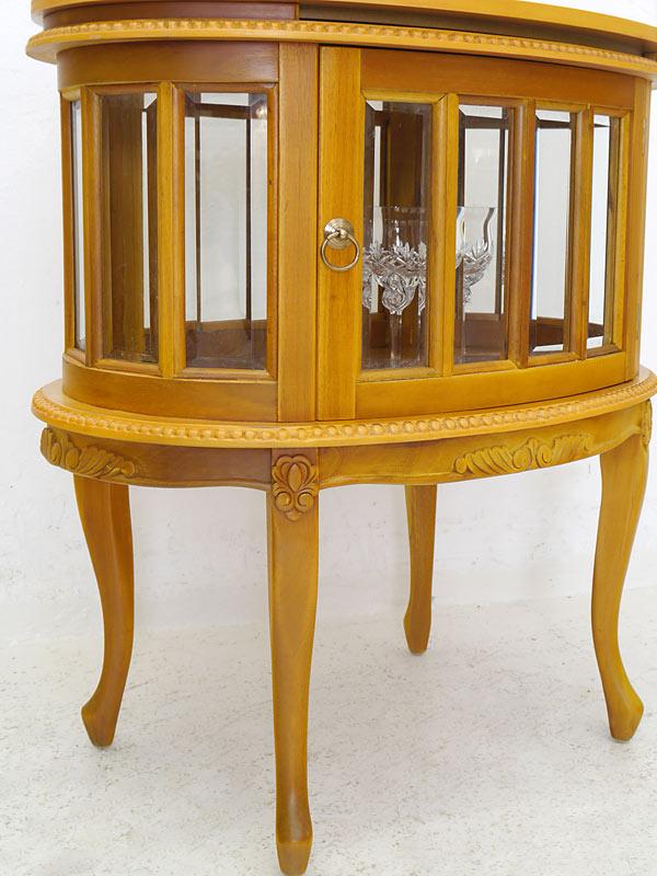 beistelltisch teeschrank barschrank antik stil massivholz oval kirsche 5981 m bel schr nke. Black Bedroom Furniture Sets. Home Design Ideas