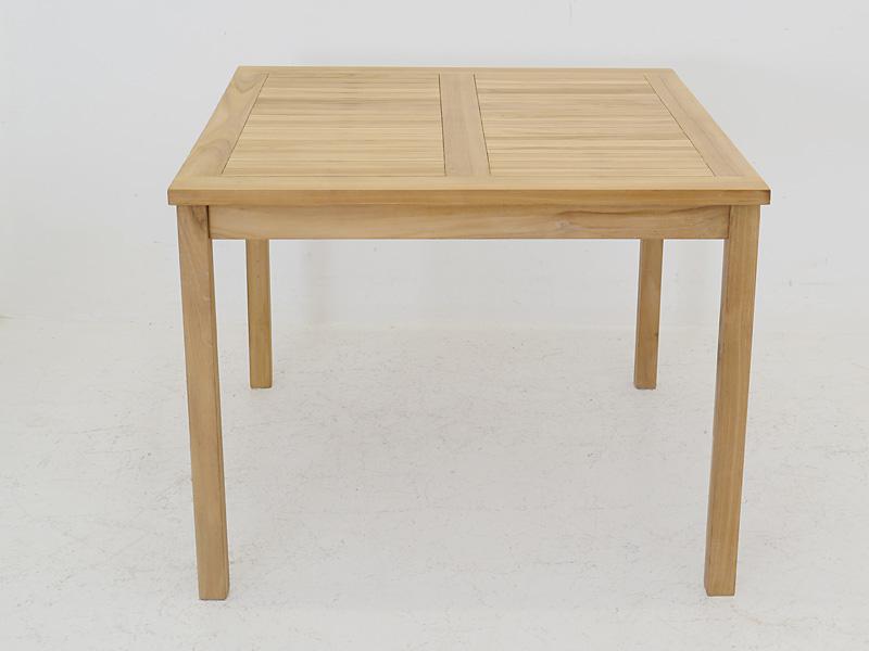 Gartentisch Tisch Gartenmobel Quadratisch Aus Teakholz 77x100x100 Cm