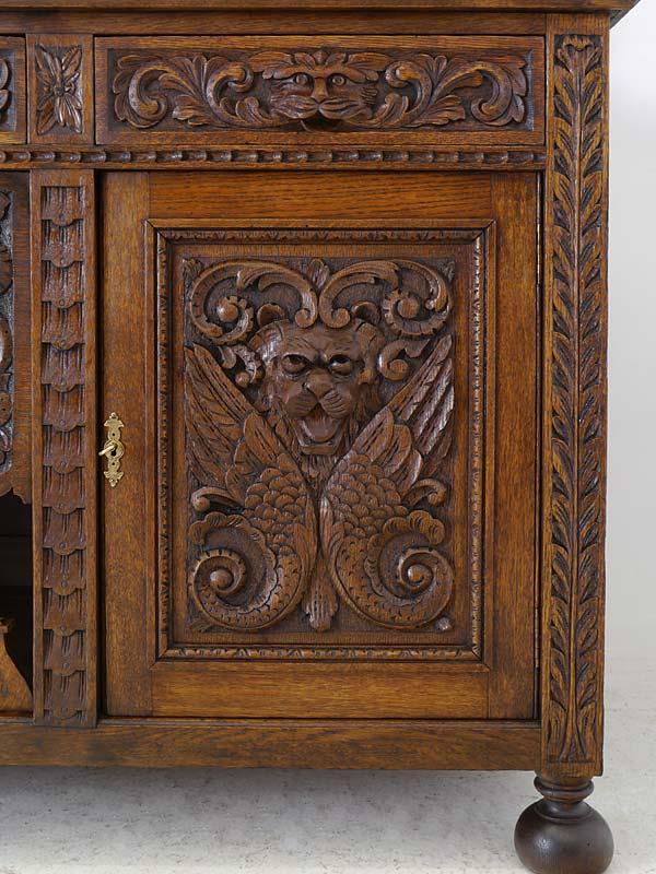 aufsatzschrank kredenz buffetschrank theke gr nderzeit um 1880 eiche 6044 m bel schr nke. Black Bedroom Furniture Sets. Home Design Ideas