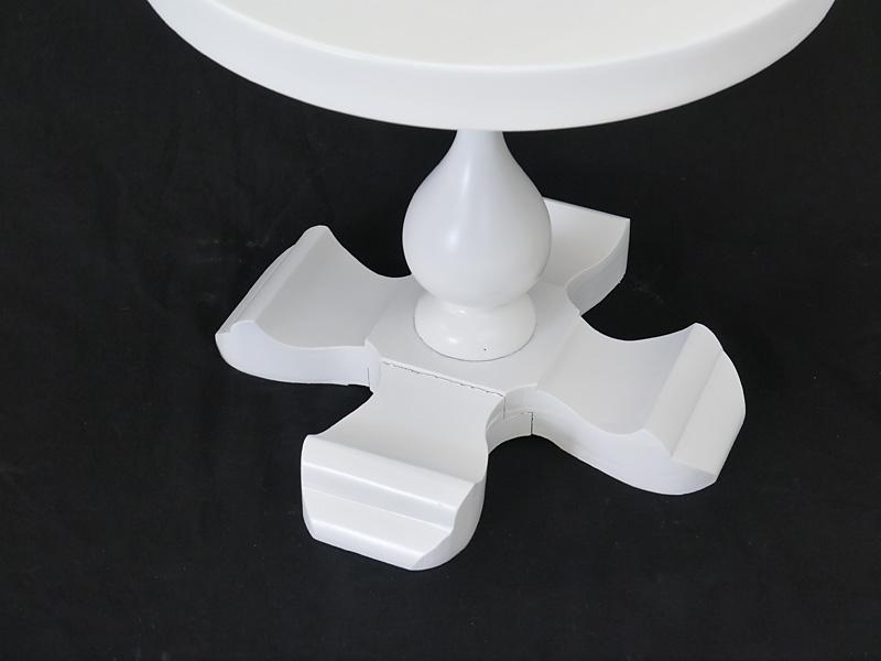 Detailansicht vom Tischbein