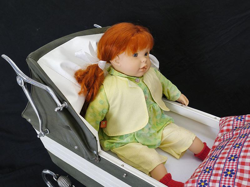Detailansicht von der Puppe