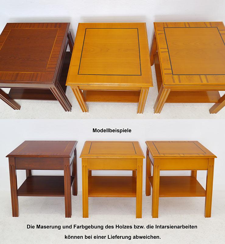 Modellbeispiele von verschiedenen Tischen