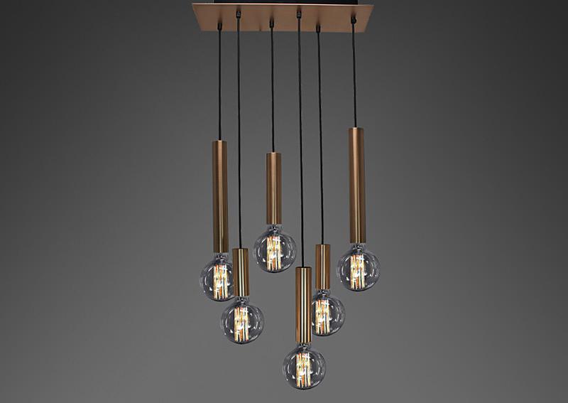 Deckenlampe mit Kupferfassung