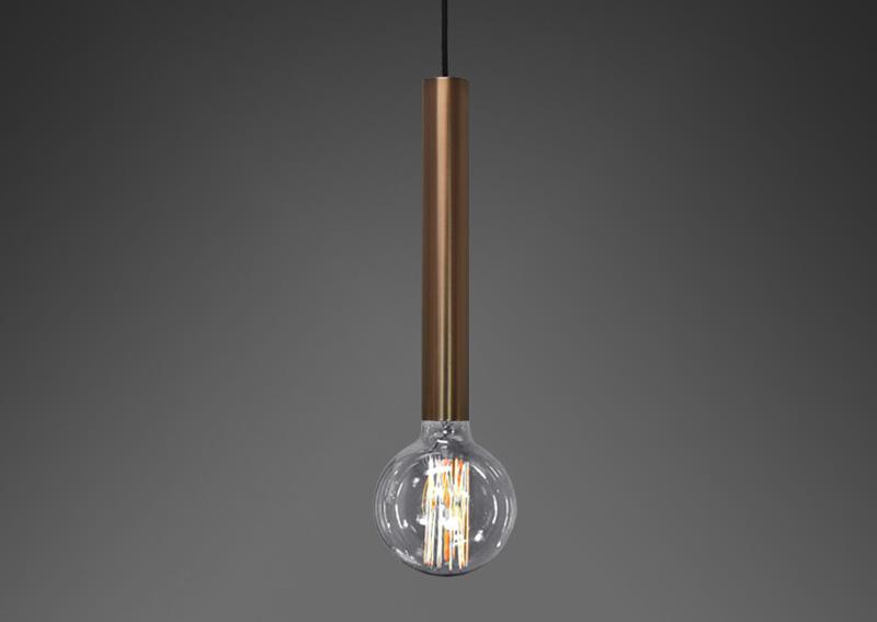 Deckenlampe kupfer