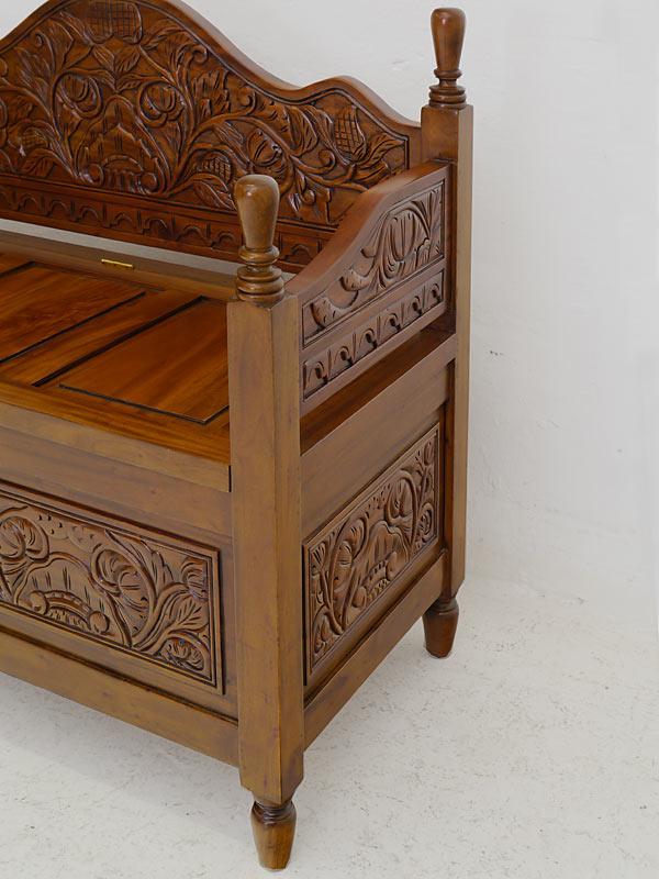 kinderbank holzbank sitzbank massivholz heller nussbaumfarbton antik stil 6137 m bel sitzm bel. Black Bedroom Furniture Sets. Home Design Ideas