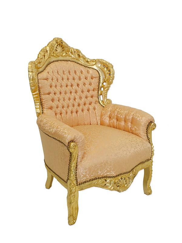 Sessel Stuhl Armlehnsessel Massivholz Barock Stil 6206