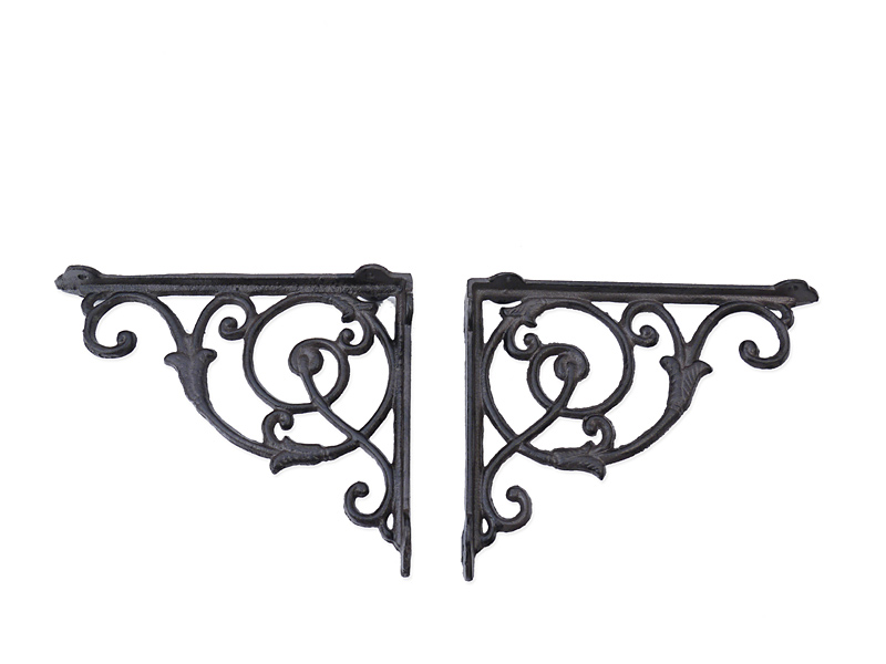 22cm 2 Regalwinkel Regalstützen Wandwinkel Antik Stil Gusseisen Bronze T 6304