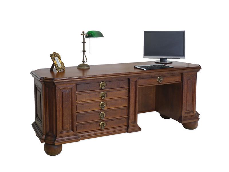 Schreibtisch b rom bel schreibm bel um 1970 eiche for Langer schreibtisch