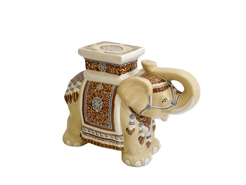 Indischer Elefant aus Keramik lasiert