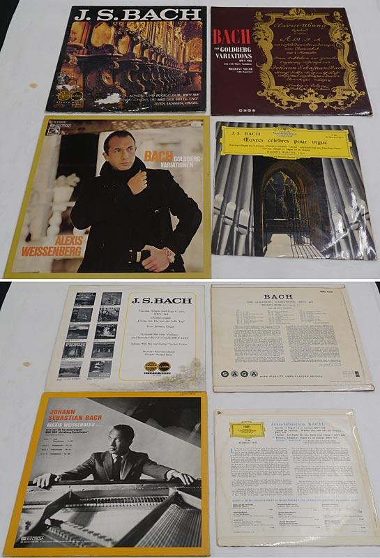4 LPs von Bach