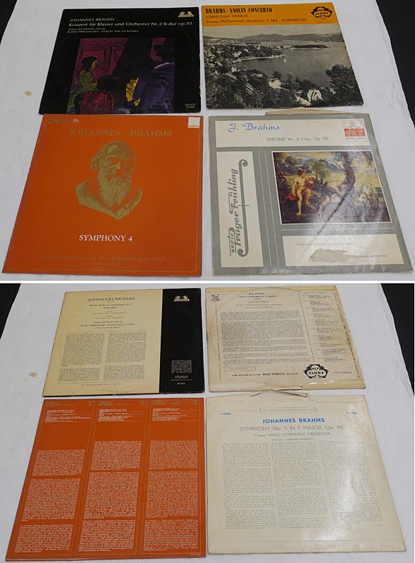 4 LPs Brahms