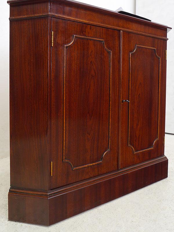 eckschrank eckanrichte eckkommode englischer stil mahagoni mit intarsien 6436 4260571720882 ebay. Black Bedroom Furniture Sets. Home Design Ideas