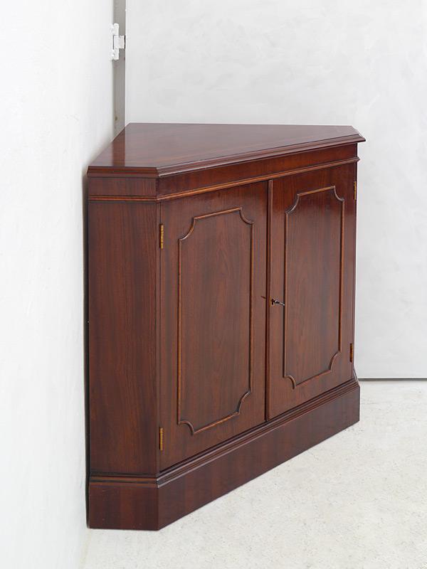 eckschrank eckanrichte eckkommode englischer stil mahagoni mit intarsien 6436 ebay. Black Bedroom Furniture Sets. Home Design Ideas