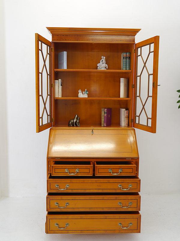 aufsatzsekret r sekret r schreibschrank im englischen stil aus eibe 6445. Black Bedroom Furniture Sets. Home Design Ideas