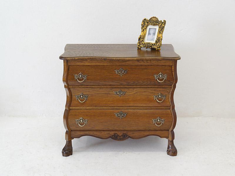 kommode anrichte schrank im barock stil aus eiche furniert b 74 cm 6464 ebay. Black Bedroom Furniture Sets. Home Design Ideas