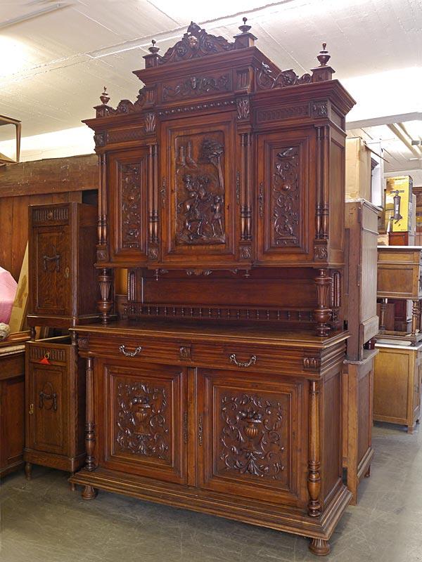 buffetschrank schrank aufsatzschrank antik um 1880. Black Bedroom Furniture Sets. Home Design Ideas