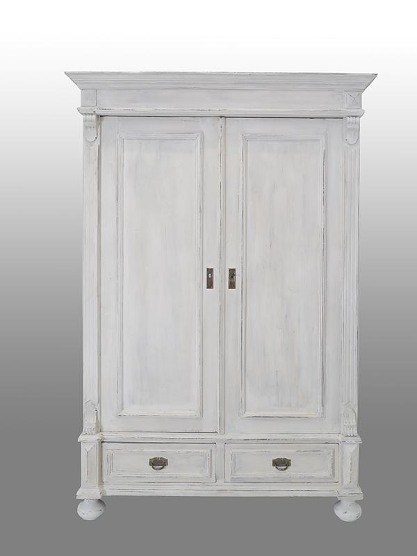 kleiderschrank dielenschrank schrank gr nderzeit um 1880 in shabby chic 6498 m bel schr nke. Black Bedroom Furniture Sets. Home Design Ideas