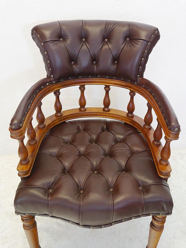 Braunes Leder im Chesterfield Design