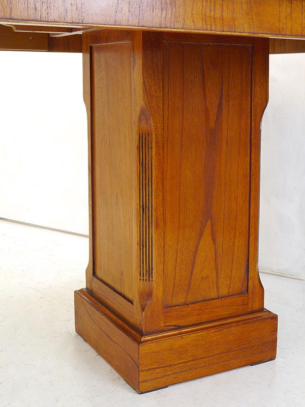 Detailaufnahme des Tischuntergestell