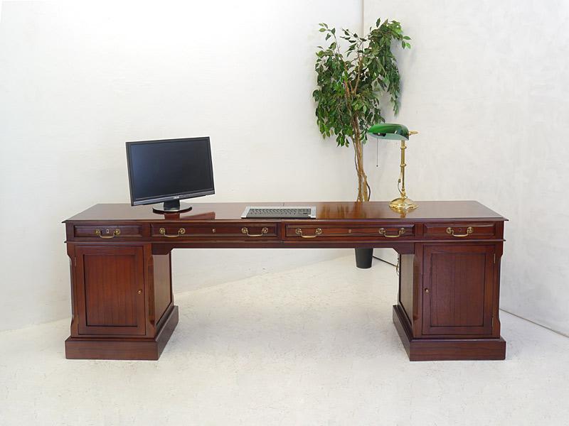 Schreibtisch computertisch studio globe wernicke antik for Langer schreibtisch
