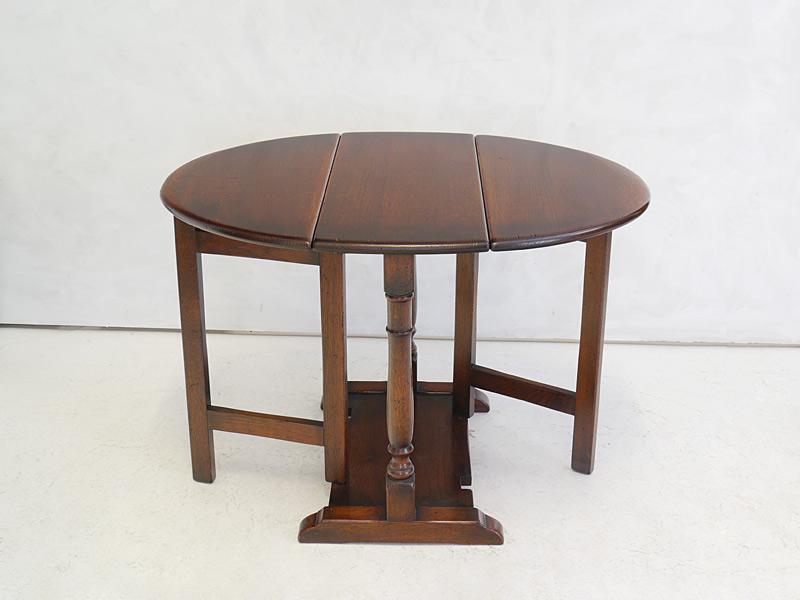 Tisch Gateleg Klapptisch Antik Stil Massiv Eiche Ausklappbar 3157