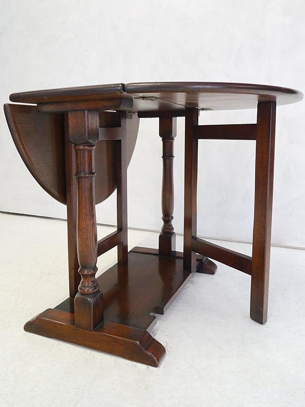 Klapptisch Antik.Tisch Gateleg Klapptisch Antik Stil Massiv Eiche Ausklappbar 31 57 83 Cm 6615