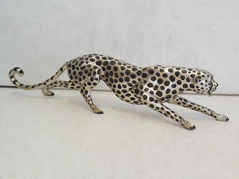 Tierfigur aus Bronze mit silberfarbener Liegierung