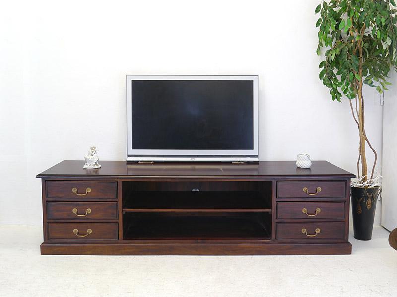 lowboard tv schrank medienschrank tv board antik stil teilmassiv l 210cm 6639 m bel kommoden. Black Bedroom Furniture Sets. Home Design Ideas