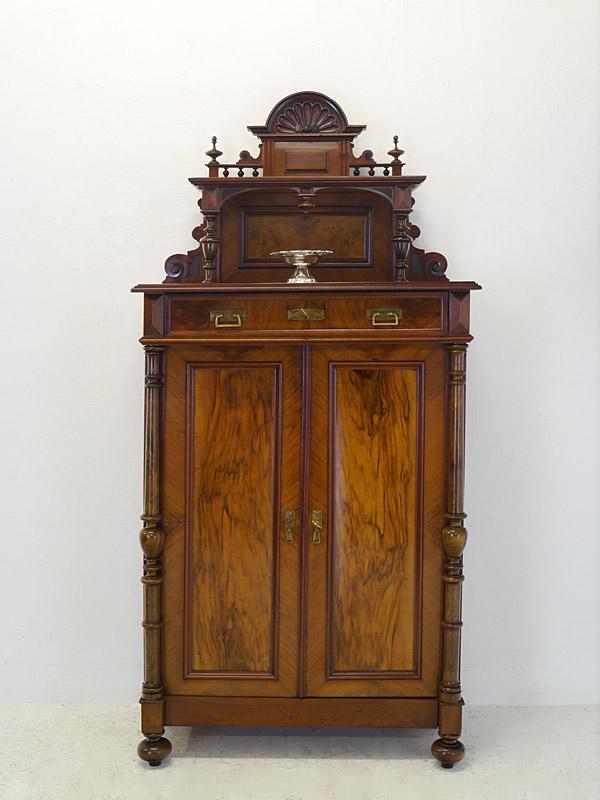 vertiko anrichte schrank mit aufsatz gr nderzeit um 1880 nussbaum b 94cm 6683 m bel schr nke. Black Bedroom Furniture Sets. Home Design Ideas