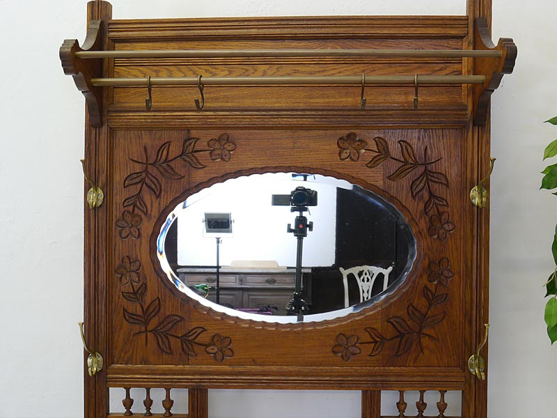 garderobe flurgarderobe wandgarderobe um 1920 aus eiche. Black Bedroom Furniture Sets. Home Design Ideas