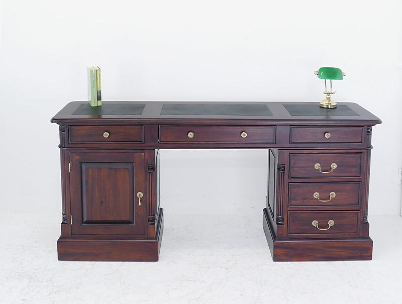 Schreibtisch Büroschreibtisch Büromöbel Antik Stil massiv ...