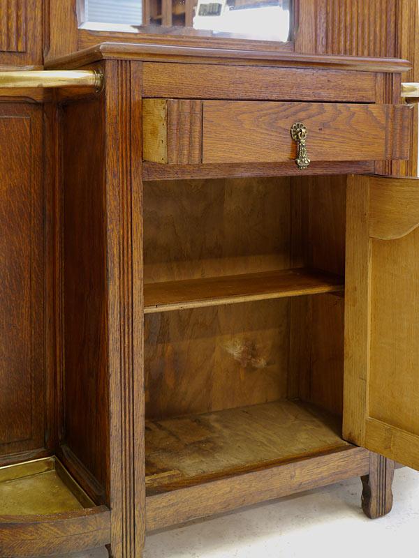 garderobe flurgarderobe wandgarderobe art d co um 1930 aus eiche b 106cm 8238 m bel. Black Bedroom Furniture Sets. Home Design Ideas