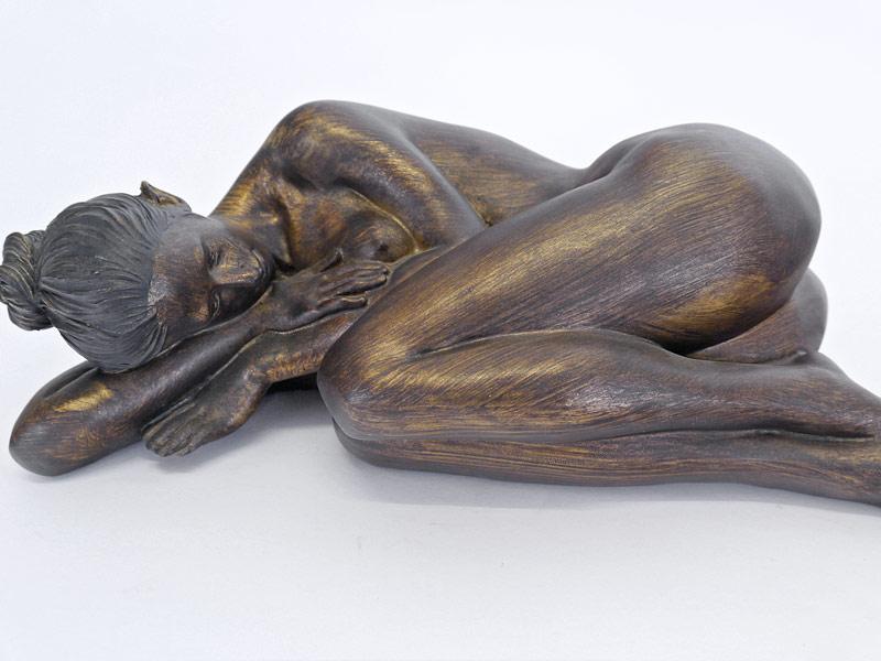 Nahaufnahme von der schlafenden Frau
