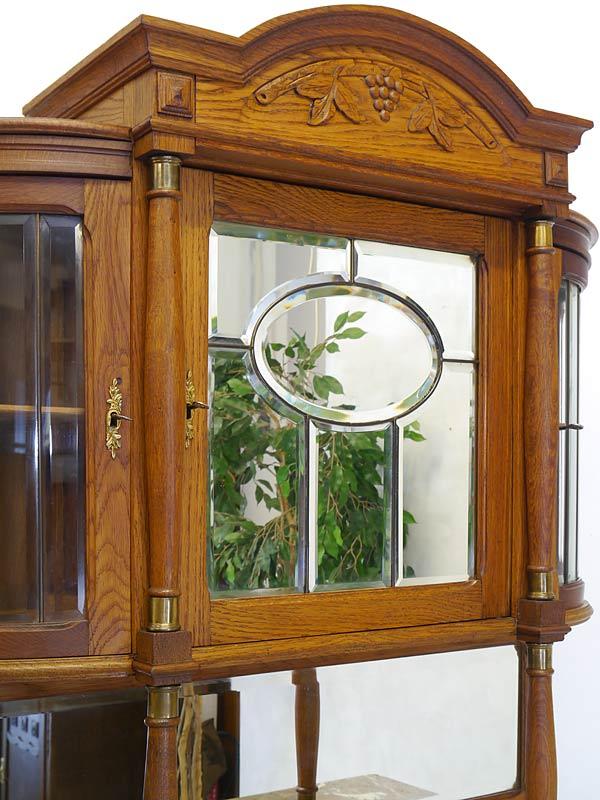 Bleiverglaste Tür mit Facettenschliff