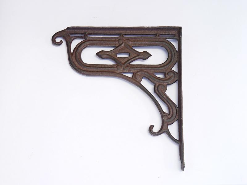 blumenampelhalter wandhaken wandhalterung f r blumenampel gusseisen braun 8311 ebay. Black Bedroom Furniture Sets. Home Design Ideas