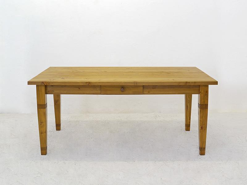 Langer Esstisch aus Weichholz