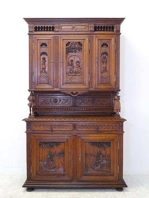 Buffet Schrank Küchenschrank Antik Um 1880 Bretonisch Aus Eiche B
