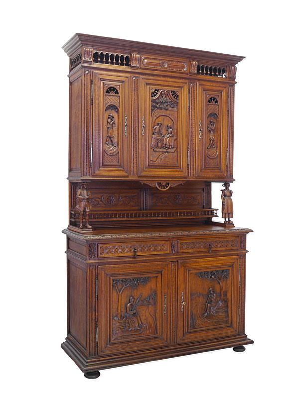 buffet schrank k chenschrank antik um 1880 bretonisch aus eiche b 142cm 8342 m bel schr nke. Black Bedroom Furniture Sets. Home Design Ideas