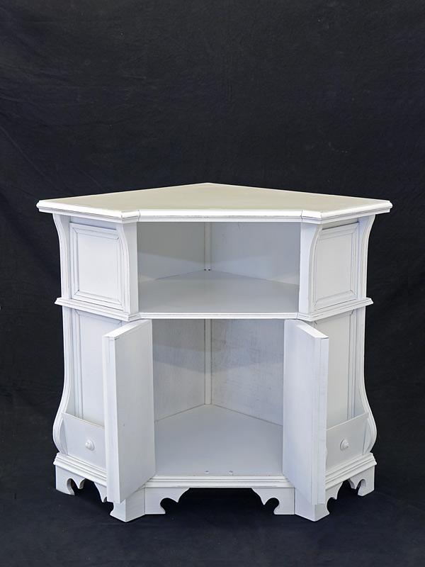 eckschrank eckmedienschrank tv schrank in shabby chic wei 80x91x64 cm 8375 m bel schr nke. Black Bedroom Furniture Sets. Home Design Ideas