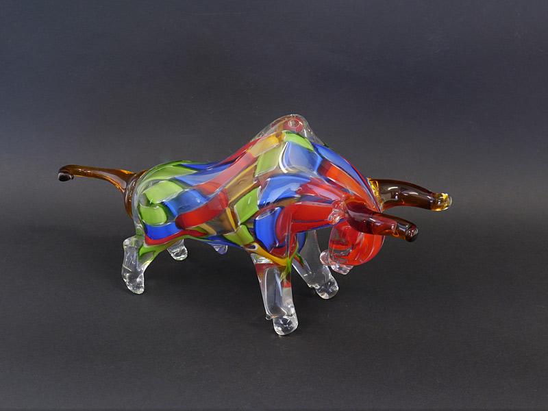 Abstraker Bulle aus Glas