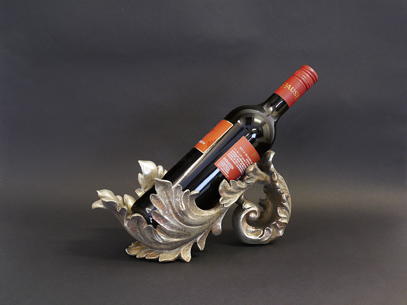 Weinflaschenhalter in Silber (ohne Dekoflasche)