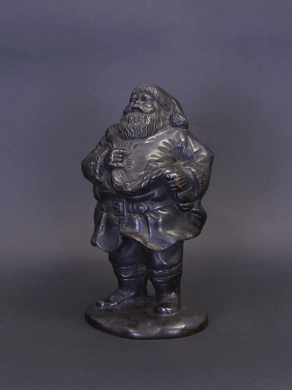 Santa Claus Bronzefigur
